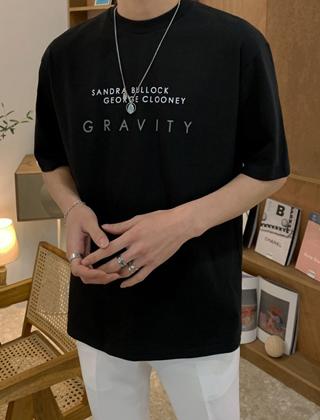 그래비티 프린팅 티셔츠
